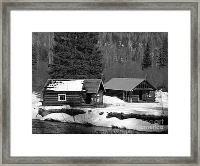 Trappers Cabins Framed Print