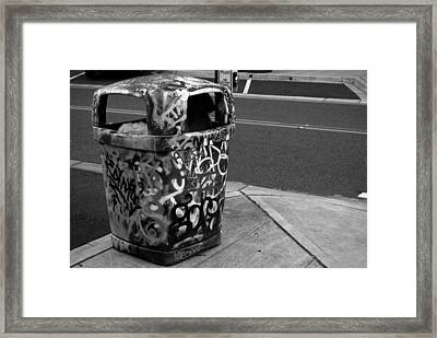 Trashcan Art Framed Print by John Rossman