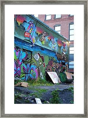 Framed Print featuring the photograph Trashed by Paul Noble