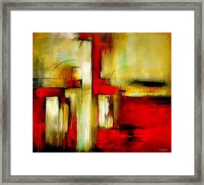 Traspasando Framed Print by Thelma Zambrano