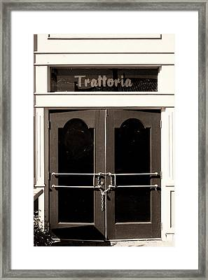 Trattoria Door Palm Springs Framed Print