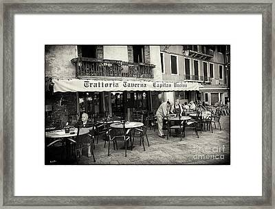 Trattoria In Venice  Framed Print by Madeline Ellis