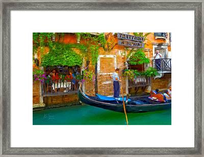 Framed Print featuring the photograph Trattoria Sempione by Juan Carlos Ferro Duque