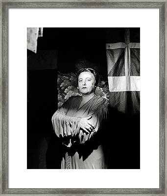 Traubel With Her Arms Crossed Framed Print