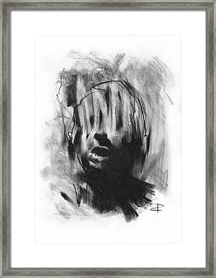 Framed Print featuring the drawing Gaza Trauma by Paul Davenport