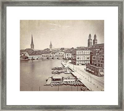 Travel Album With Photographs And Drawings By Manuel Mayo Framed Print