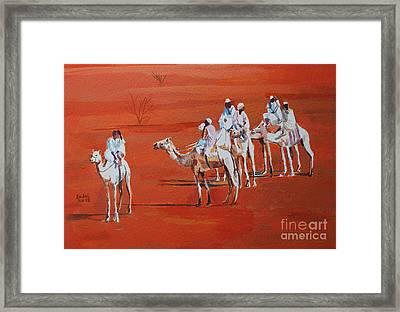 Travel By Camels Framed Print