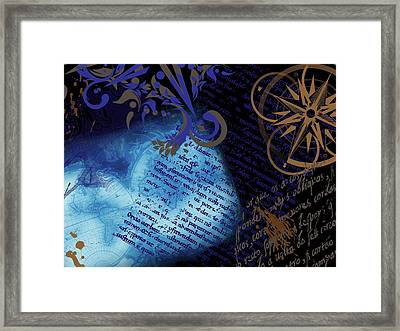 Travel Collage Framed Print by Cindy Edwards