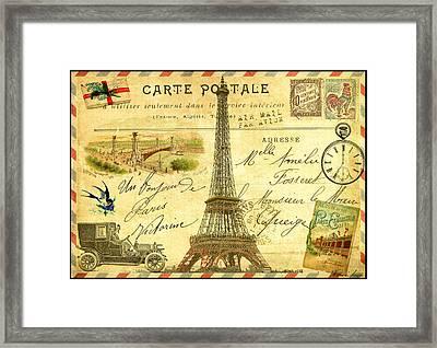 Travel Diary Paris Framed Print