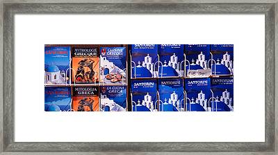 Travel Guides, Santorini, Greece Framed Print by Panoramic Images