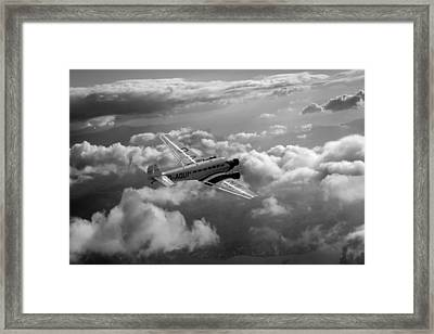Travel In An Age Of Elegance Black And White Version Framed Print