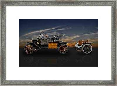1914 Model T - Travel In Style Framed Print by Frank J Benz