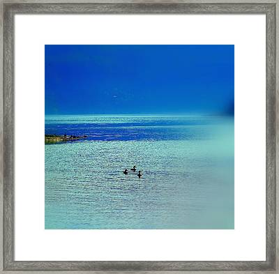 Travelling Into The Blue And Never Returning  Framed Print