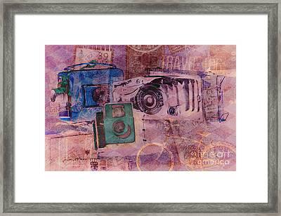 Travel Log Framed Print by Erika Weber