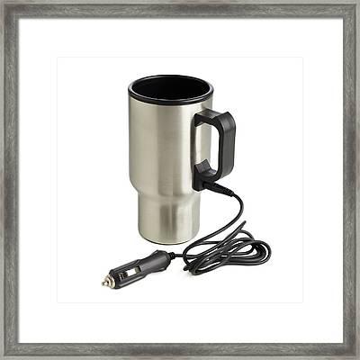 Travel Mug And Car Charger Framed Print