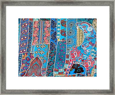 Travel Shopping Colorful Tapestry 2 India Rajasthan Framed Print
