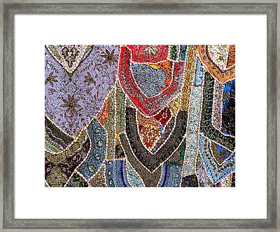 Travel Shopping Colorful Tapestry 6 India Rajasthan Framed Print