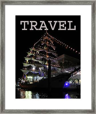 Travel Tall Sailing Ship Work Two Framed Print by David Lee Thompson