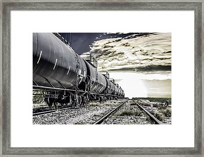 Train And Transient Framed Print by Brian Yasumura Jr