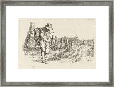 Traveler On A Country Road, Jacob Ernst Marcus Framed Print by Artokoloro