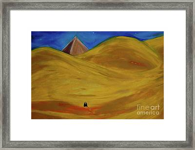 Framed Print featuring the drawing Travelers Desert by First Star Art