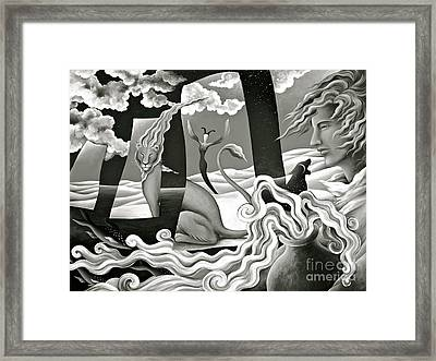 Magical Treasure - Monochrome  Framed Print by Gem S Visionary