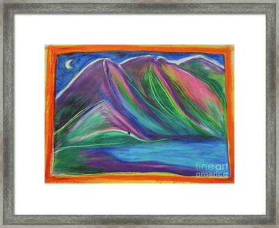 Framed Print featuring the painting Travelers Mountains By Jrr by First Star Art