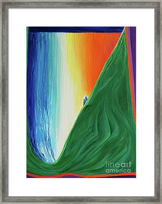 Framed Print featuring the painting Travelers Rainbow Waterfall By Jrr by First Star Art