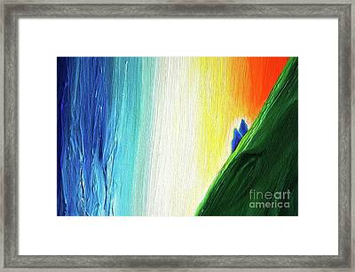 Framed Print featuring the painting Travelers Rainbow Waterfall Detail by First Star Art