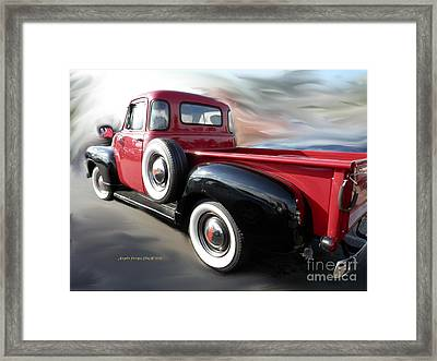 Traveling Back In Time Framed Print by Angelia Hodges Clay