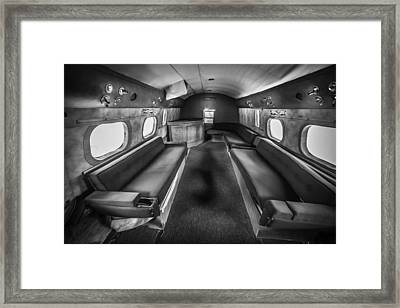 Traveling First Class 1944 Short Sunderland Bw Framed Print