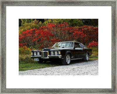 Traveling In Style In The 1970 Pontiac Grand Prix Framed Print by Inspired Nature Photography Fine Art Photography