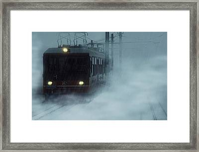 Traveling In The Snow... Framed Print by Vittorio Chiampan