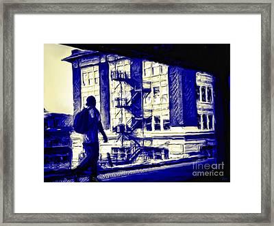 Traveling Man Framed Print by Jeff Breiman