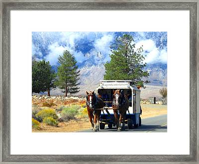 Framed Print featuring the photograph Traveling by Marilyn Diaz