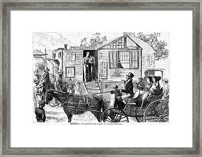 Traveling Photographer Framed Print by Granger