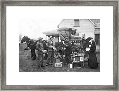 Traveling Salesman Framed Print by Underwood Archives