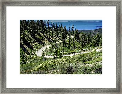 Traveling The Mt. Rose Highway Scenic Overlook Hiking Trail Framed Print by LeeAnn McLaneGoetz McLaneGoetzStudioLLCcom