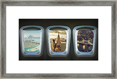 Traveling The World With An Airplane Framed Print by Franckreporter