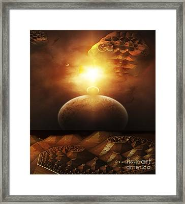 Framed Print featuring the digital art Traveling Through Space by Melissa Messick