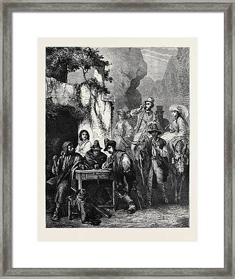 Travellers And Brigands Framed Print