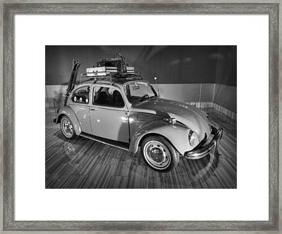 Traveller's Super Beetle 001 Bw Framed Print