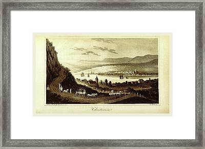 Travels In Norway, Sweden, Denmark, Christiania Framed Print by Litz Collection