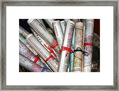 Travels Framed Print by Sophie Vigneault