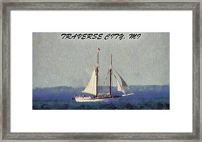 Traverse City Postcard Framed Print by Dan Sproul