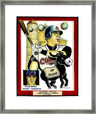 Travis Hafner Grand Slam Framed Print