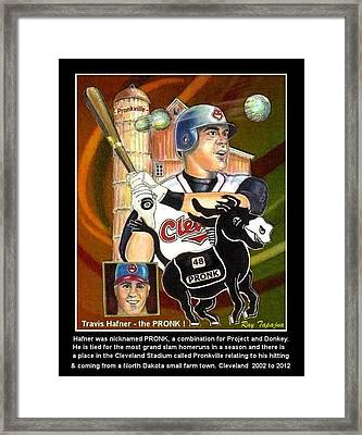 Travis Hafner The Pronk Framed Print by Ray Tapajna