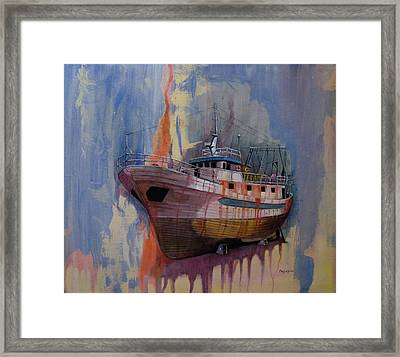Trawler Framed Print