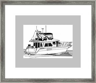 Trawler Yacht Framed Print by Jack Pumphrey