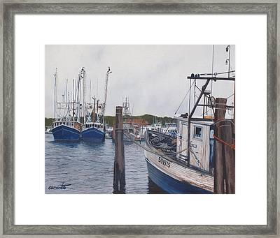 Trawlers At Gosman's Dock Montauk Framed Print